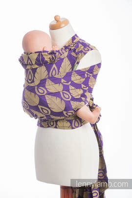 WRAP-TAI carrier Toddler with hood/ jacquard twill / 100% cotton / NORTHERN LEAVES PURPLE & YELLOW