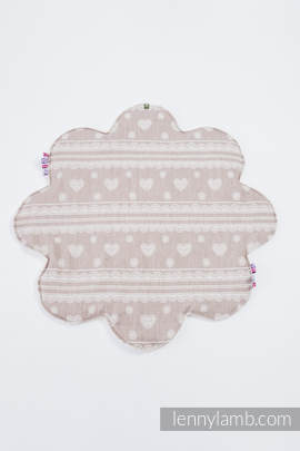 Lenny Baby Mat (Outer layer-80% cotton 14% linen 6% tussah silk, Stuffing-100% polyester) - PORCELAIN LACE