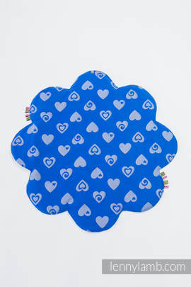 Lenny Baby Mat  (Outer layer-100% cotton, Stuffing-100% polyester) - SWEETHEART BLUE & GRAY