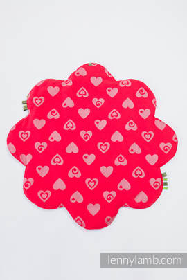 Lenny Baby Mat (Outer layer-100% cotton, Stuffing-100% polyester) - SWEETHEART RED & GRAY