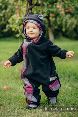 Bear Romper with baby booties - size 92 - black with Little Herringbone Inspiration