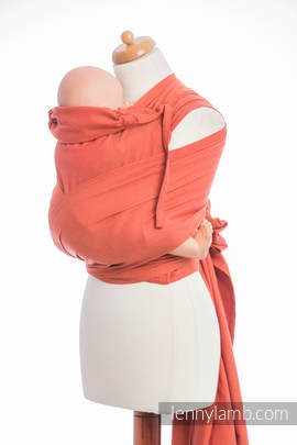 WRAP-TAI carrier Toddler, diamond weave - 100% cotton - with hood, BURNT ORANGE DIAMOND