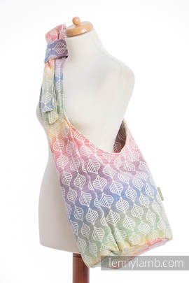 Hobo Bag made of woven fabric (100% cotton) - TULIP PETALS