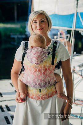 Ergonomic Carrier, Baby Size, jacquard weave 100% cotton - wrap conversion from TULIP PETALS - Second Generation