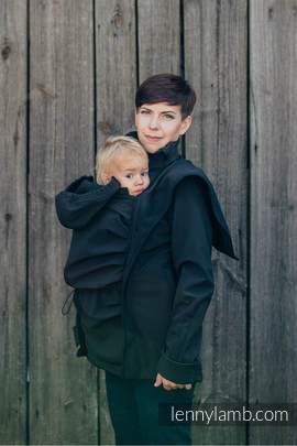 Babywearing Coat - Softshell - Black - S