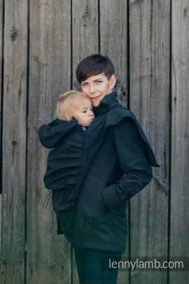 Babywearing Coat - Softshell - Black - XXL
