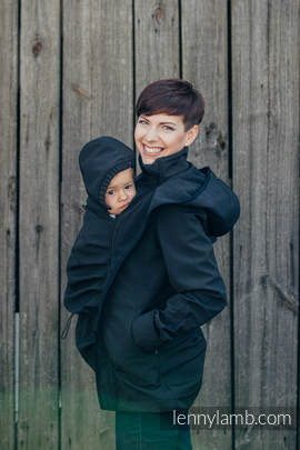 Babywearing Coat - Softshell - Black - M