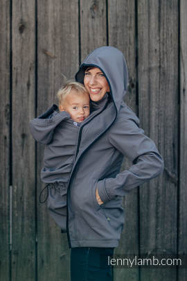 Babywearing Coat - Softshell - Charcoal - S