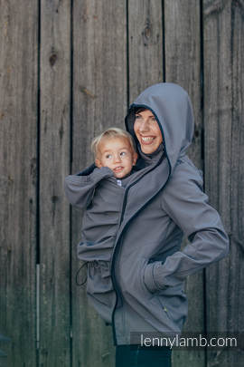 Babywearing Coat - Softshell - Charcoal - XL