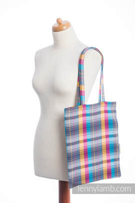 Shopping bag made of wrap fabric (100% cotton) - LITTLE HERRINGBONE CITYLIGHTS