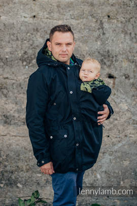 Parka Babywearing Coat - size M - Black & Customized Finishing