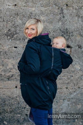 Parka Babywearing Coat - size S - Black & Customized Finishing