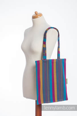 Shopping bag made of wrap fabric (100% cotton) - LITTLE HERRINGBONE NIGHTLIGHTS