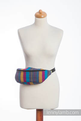 Waist Bag made of woven fabric, (100% cotton) - LITTLE HERRINGBONE NIGHTLIGHTS
