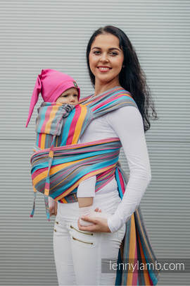 WRAP-TAI carrier Toddler with hood/ herringbone twill / 100% cotton / LITTLE HERRINGBONE DAYLIGHTS