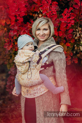 Ergonomic Carrier, Toddler Size, jacquard weave 100% cotton - wrap conversion from COLORS OF FALL - Second Generation (grade B)