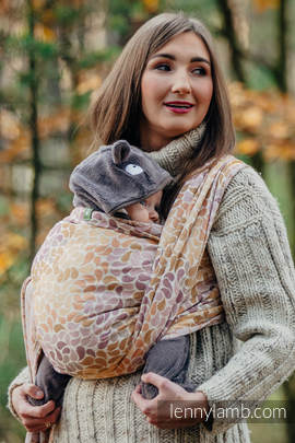Baby Wrap, Jacquard Weave (100% cotton) - COLORS OF FALL - size XS