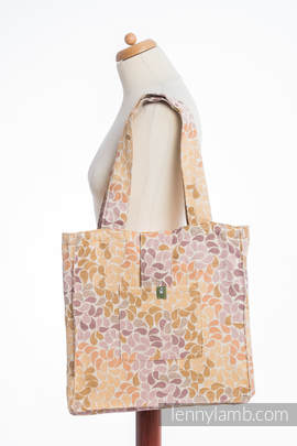 Shoulder bag made of wrap fabric (100% cotton) - COLORS OF FALL - standard size 37cmx37cm