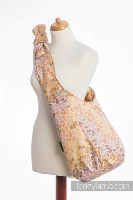 Hobo Bag made of woven fabric, 100% cotton  - COLORS OF FALL