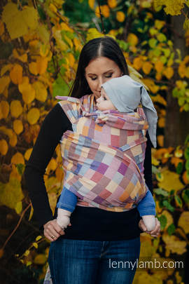 WRAP-TAI carrier Toddler with hood/ crackle twill / 100% cotton / QUARTET