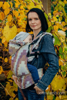 Ergonomic Carrier, Baby Size, crackle weave 100% cotton - TRIO - Second Generation