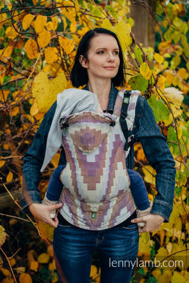 Ergonomic Carrier, Toddler Size, crackle weave 100% cotton - wrap conversion from TRIO  - Second Generation