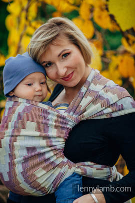 Baby Wrap, Crackle Weave (100% cotton) - TRIO  - size S (grade B)