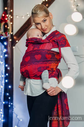 WRAP-TAI carrier Toddler with hood/ jacquard twill / 100% cotton / WARM HEARTS WITH CINNAMON