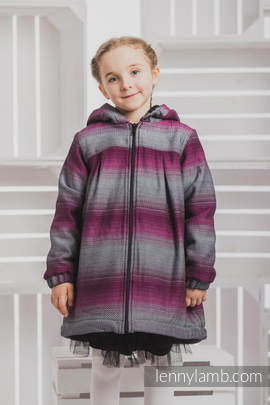 Girls Coat - size 128 - LITTLE HERRINGBONE INSPIRATION with Black