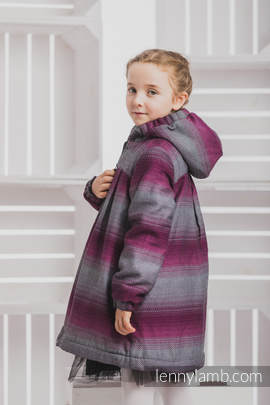 Girls Coat - size 104 - LITTLE HERRINGBONE INSPIRATION with Black