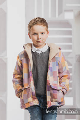 Boys Coat - size 128 - QUARTET with Cafe Latte