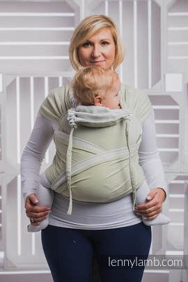 WRAP-TAI carrier Toddler with hood/ herringbone twill / 100% cotton / LITTLE HERRINGBONE OLIVE GREEN