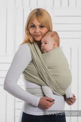 Baby Wrap, Herringbone Weave (100% cotton) - LITTLE HERRINGBONE OLIVE GREEN - size L