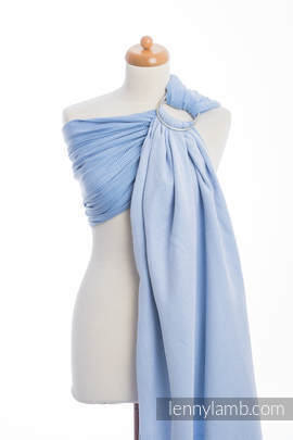 Ringsling, Herringbone Weave (100% cotton) - with gathered shoulder - LITTLE HERRINGBONE BLUE