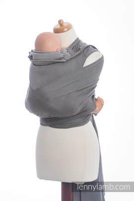 WRAP-TAI carrier Toddler with hood/ herringbone twill / 100% cotton / LITTLE HERRINGBONE BLACK