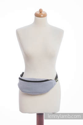 Waist Bag made of woven fabric, (100% cotton) - LITTLE HERRINGBONE GREY