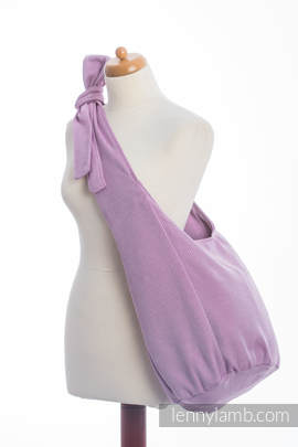 Hobo Bag made of woven fabric (100% cotton) - LITTLE HERRINGBONE PURPLE