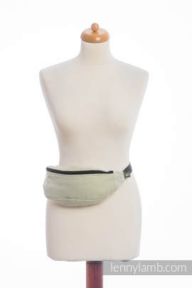 Waist Bag made of woven fabric, (100% cotton) - LITTLE HERRINGBONE OLIVE GREEN