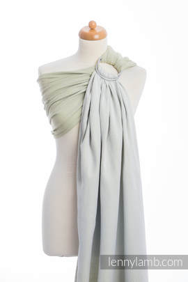 Ringsling, Herringbone Weave (100% cotton) - with gathered shoulder - LITTLE HERRINGBONE OLIVE GREEN
