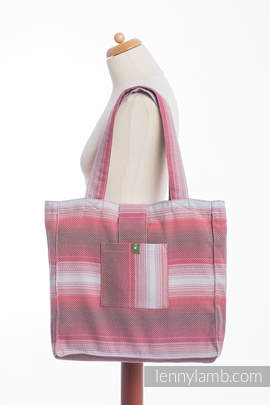 Shoulder bag made of wrap fabric (100% cotton) - LITTLE HERRINGBONE ELEGANCE - standard size 37cmx37cm