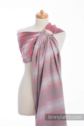 Ringsling, Herringbone Weave (100% cotton) - with gathered shoulder - LITTLE HERRINGBONE ELEGANCE