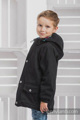 Parka Coat for Kids - size 134 - Black & Diamond Plaid
