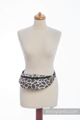 Waist Bag made of woven fabric, (100% cotton) - GIRAFFE DARK BROWN & CREME