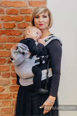 Ergonomic Carrier, Baby Size, diamond weave 100% cotton - wrap conversion from DIAMOND ILLUSION LIGHT - Second Generation.