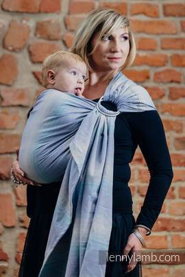 Ringsling, Diamond Weave (100% cotton) with gathered shoulder - DIAMOND ILLUSION LIGHT