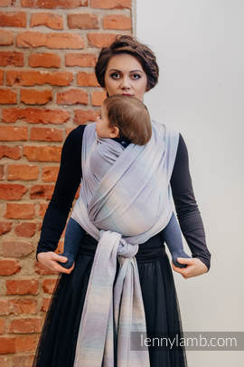 Baby Sling, Diamond Weave, 100% cotton - DIAMOND ILLUSION LIGHT - size L