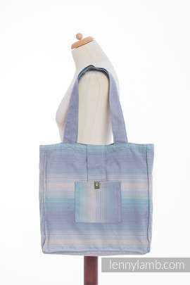 Shoulder bag made of wrap fabric (100% cotton) - DIAMOND ILLUSION LIGHT - standard size 37cmx37cm