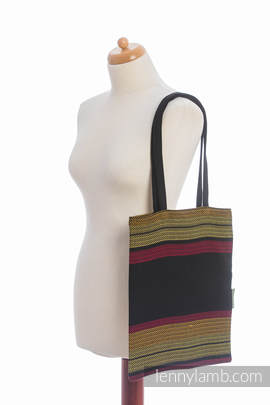 Shopping bag made of wrap fabric (100% cotton) - MOULIN - ARDENT - standard size 33cmx39cm