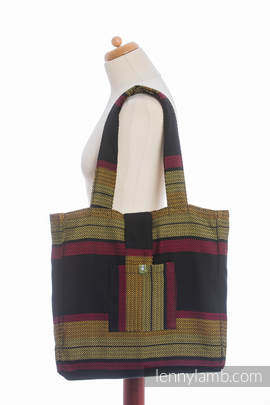 Shoulder bag made of wrap fabric (100% cotton) - MOULIN - ARDENT - standard size 37cmx37cm