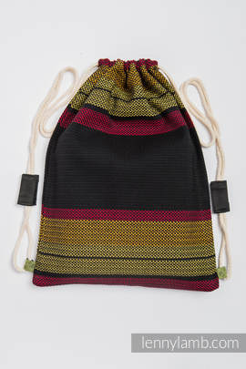 Sackpack made of wrap fabric (100% cotton) - MOULIN - ARDENT - standard size 35cmx45cm